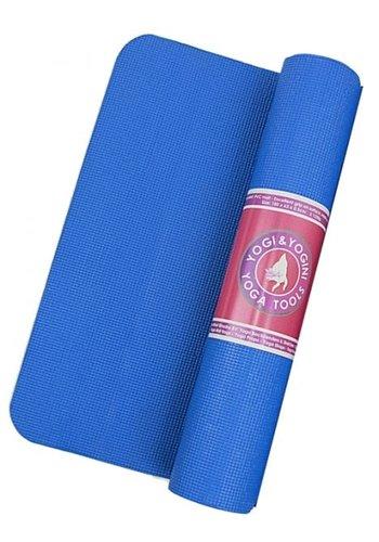 Yogi & Yogini naturals Yogamat blauw (185x63x0,5 cm)