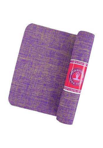 Yogi & Yogini naturals Yogamat jute violet (5 mm)