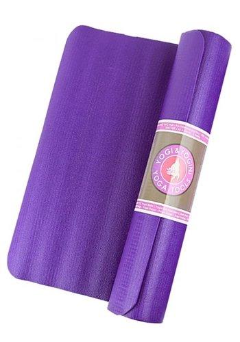 Yogi & Yogini naturals Power Yogamat paars (185x66x0.5 cm)