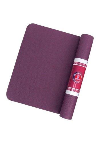 Yogi & Yogini naturals TPE yogamat hoge dichtheid paars/antraciet