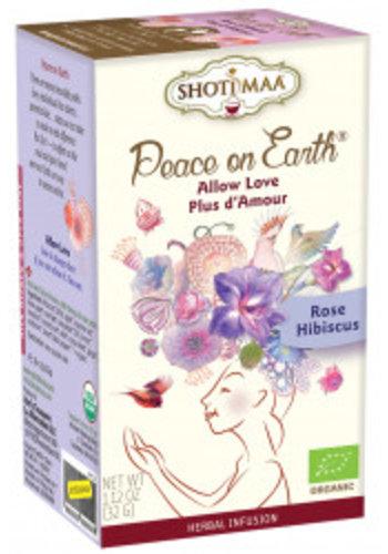 Shoti Maa Thee Shoti Maa Peace on Earth wilde roos & hibiscus BIO