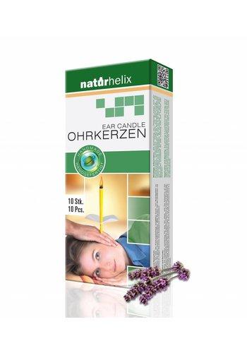 NaturHelix Oorkaarsen Lavendel (10-pack)