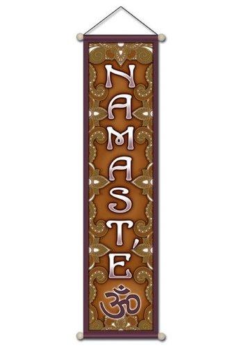 Yogi & Yogini naturals Namaste banner klein (15x60 cm)
