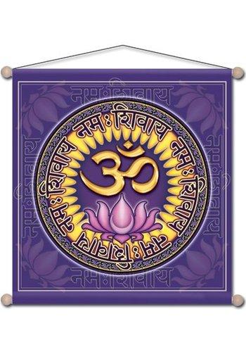 Yogi & Yogini naturals Meditatie banner Om Namo Shiva (37.5x37.5 cm)