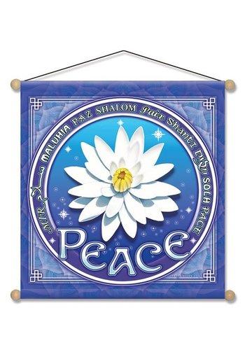 Yogi & Yogini naturals Banner Peace Lotus (37.5x37.5 cm)