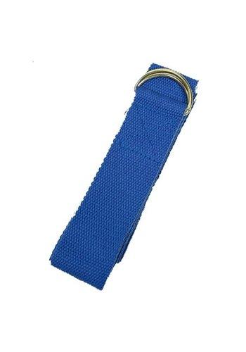 Yogi & Yogini naturals Yoga riem D-ring blauw katoen (183x4 cm)