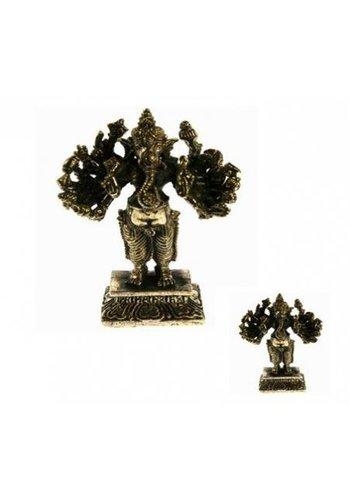 Yogi & Yogini naturals Minibeeldje Ganesha 16 armen messing