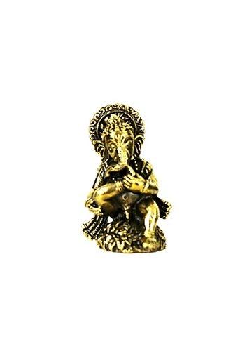 Yogi & Yogini naturals Minibeeldje Ganesha zittend messing