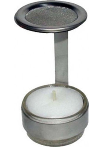 Yogi & Yogini naturals Wierookbrander rvs met zeef (7x4,5 cm)