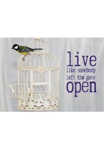 Yogi & Yogini naturals Ansichtkaarten: Live like somebody left.. (15x10.5 cm)