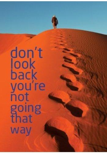 Yogi & Yogini naturals Ansichtkaarten: Don't look back you're.. (15x10.5 cm)