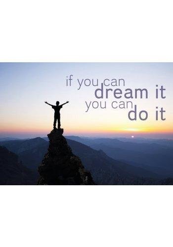 Yogi & Yogini naturals Ansichtkaarten: If you can dream it.. (15x10.5 cm)