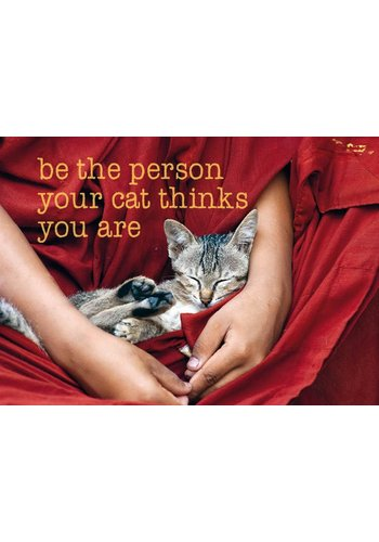 Yogi & Yogini naturals Ansichtkaarten: Be the person your cat.. (15x10.5 cm)