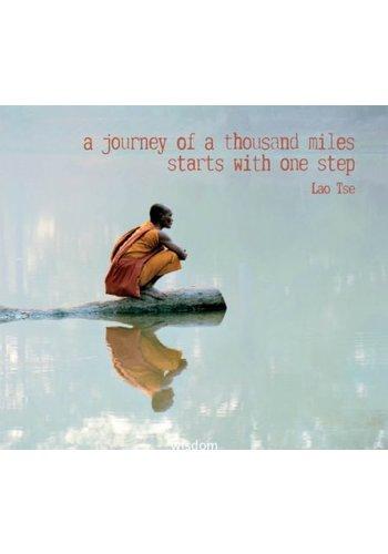 Yogi & Yogini naturals Dubbele kaarten A journey of a thousand