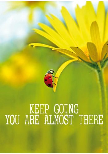 Yogi & Yogini naturals Ansichtkaarten: Keep going you are almost there (15x10.5 cm)