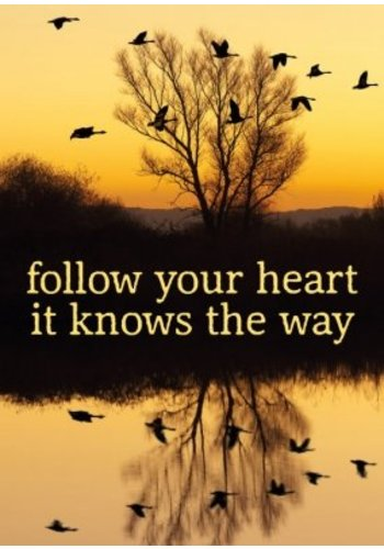 Yogi & Yogini naturals Ansichtkaarten: Follow your heart.. (15x10.5cm)