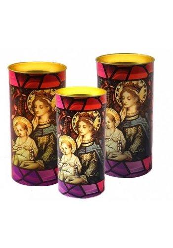 Yogi & Yogini naturals Kaars Maria en Jezus uniek lichteffect (14x6 cm)