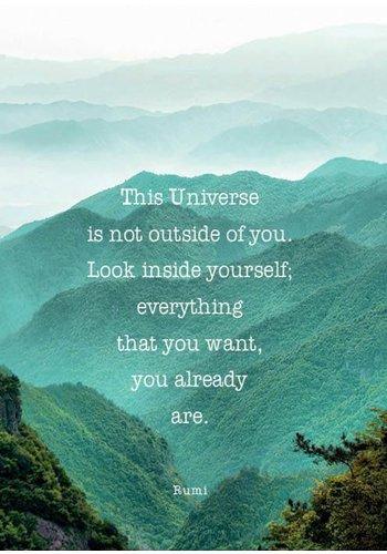 Yogi & Yogini naturals Ansichtkaarten: This Universe is not.. (15x10.5 cm)