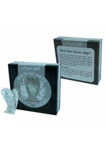 Yogi & Yogini naturals Engel bergkristal in cadeauverpakking (5x3 cm)