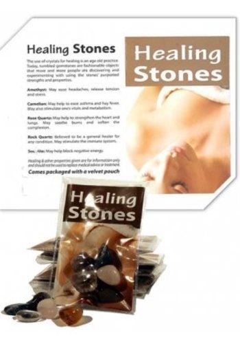Yogi & Yogini naturals Healing Stones in velours tasje met uitleg (7.5x11 cm)