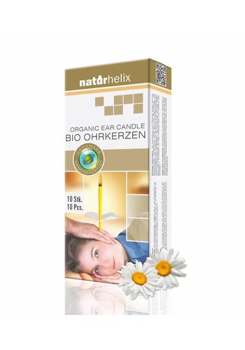 NaturHelix Oorkaarsen Kamille - BIO (10-pack)