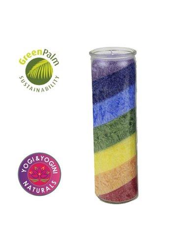 Greenpalm Kaars stearine regenboog