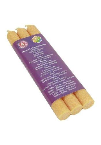 Greenpalm Diner geurkaars 2e chakra Swadhistana (3-pack)