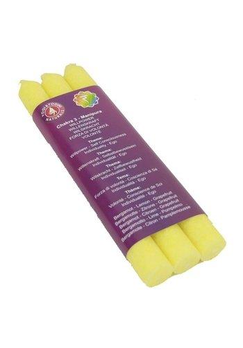 Greenpalm Diner geurkaars 3e chakra Manipura dun (3-pack)