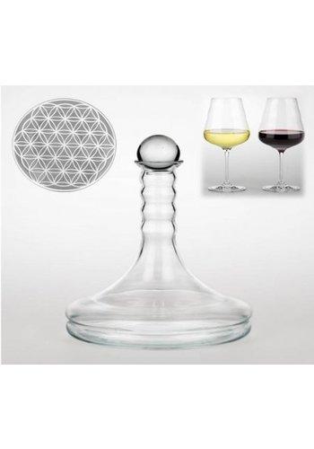 Yogi & Yogini naturals Vitaal wijnkaraf Rubellum met Bloem des Levens wit