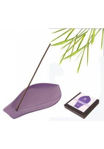 Yukari YUKARI wierookbrander keramiek violet lotusblad