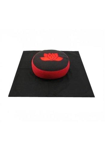 Yogi & Yogini naturals Meditatie SET Lotus zwart/rood