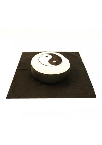 Yogi & Yogini naturals Meditatie SET Yin Yang symbool zwart/crème