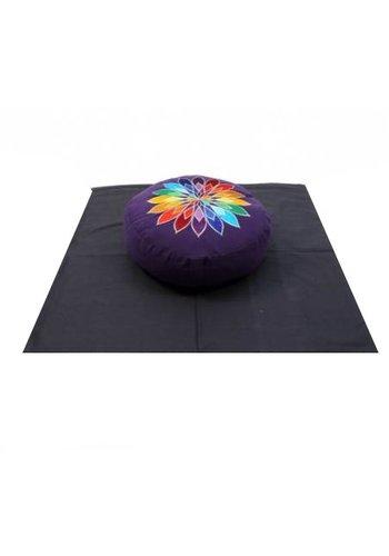 Yogi & Yogini naturals Meditatie SET violet veelkleurige bloem op zwart