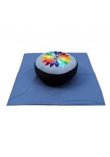 Yogi & Yogini naturals Meditatie SET blauw veelkleurige bloem op blauw