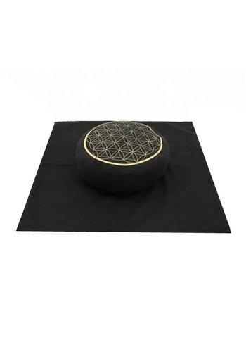 Yogi & Yogini naturals Meditatie SET Bloem des Levens goud opdruk/zwart