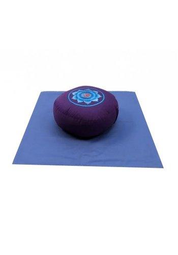 Yogi & Yogini naturals MeditatieSET AOUM rood/purper/blauw op blauw