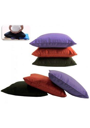 Yogi & Yogini naturals Support kussen voor meditatie zwart (28x28 cm)