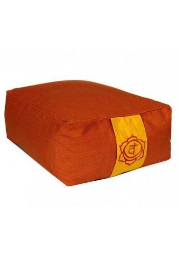 Yogi & Yogini naturals Meditatiekussen oranje 2e chakra (38x28x15 cm)