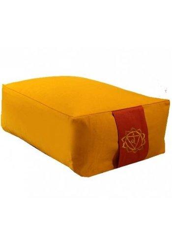 Yogi & Yogini naturals Meditatiekussen geel 3e chakra (38x28x15 cm)