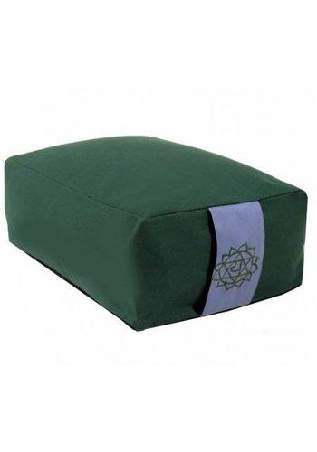 Yogi & Yogini naturals Meditatiekussen groen 4e chakra (38x28x15 cm)