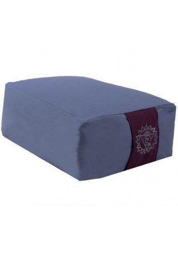 Yogi & Yogini naturals Meditatiekussen blauw 5e chakra (38x28x15 cm)