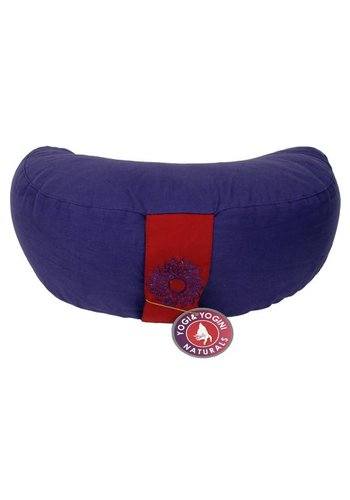 Yogi & Yogini naturals Meditatiekussen violet 7e chakra halve maan (33x13cm)
