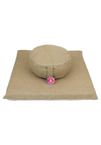 Yogi & Yogini naturals Meditatie SET: Hennep mat + kussen