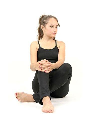 Yogi & Yogini naturals Yoga top 'DVE' met bh ondersteuning zwart L