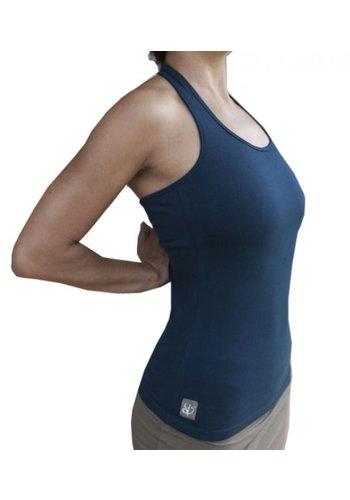 Yogi & Yogini naturals Yoga top 'Dasa' met bh ondersteuning navy M