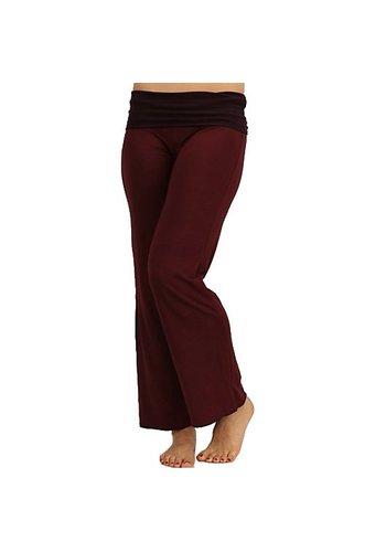 Yogi & Yogini naturals Yogabroek 'Sukha' bordeaux M