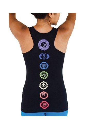 Yogi & Yogini naturals Yoga top 'Chakra' met racerback zwart L