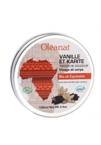 Oléanat Sheabutter balsem vanille Fair Trade