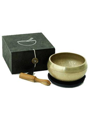 Yogi & Yogini naturals Klankschaal Ohm geschenk (set zwart)