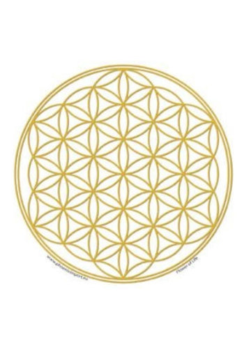 Yogi & Yogini naturals Raamsticker Flower of Life Gold (10,5 cm )